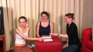 Elizabeth, Julie & Lily Play Strip High Card