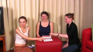 Elizabeth, Julie & Lily Play Strip High Card