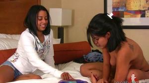 Sasha and Vivian Play Strip Jester