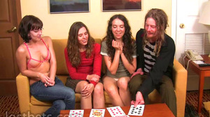 Lily, Elise, Amber, and Sean play Strip High-Card