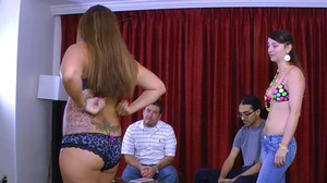 Strip Blackjack with Angel and Lance vs. Xzavier and Kandii (HD)
