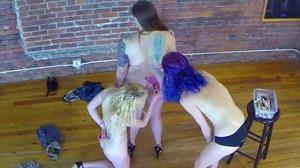 Strip Shockinaw with Luna, Indigo, and Lavender (HD)