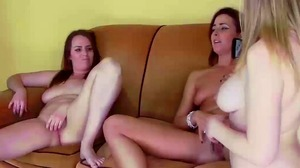 Strip Foosball with Helena and Alisha vs. Starli and Selina (HD)